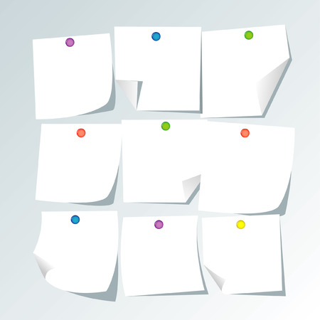white paper notes Stock Vector - 5610314