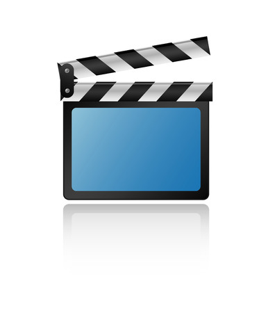 clapboard isolated on white Stock Vector - 5610373