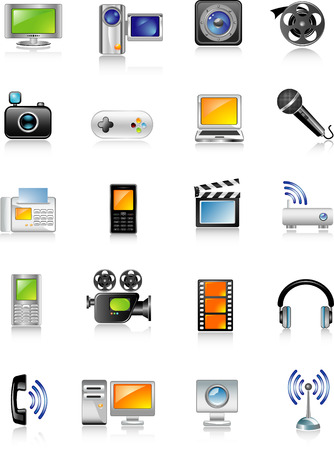 multimedia icons Stock Vector - 5610389