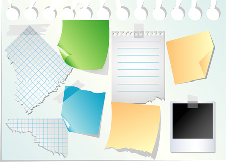Set of papers Stock Vector - 5610347