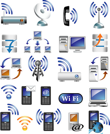 antennas: Internet icons