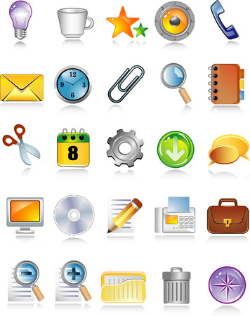 shiny icons for web and internet Stock Vector - 5610388