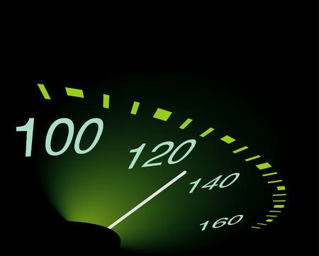 abstrakt: abstrakt speedometer Illustration