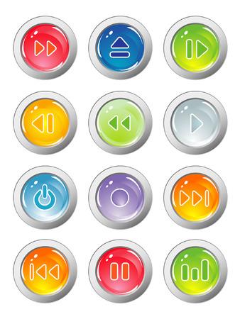 botones musica: botones de m�sica  Vectores
