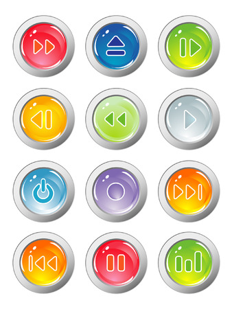 music buttons Stock Vector - 5610309