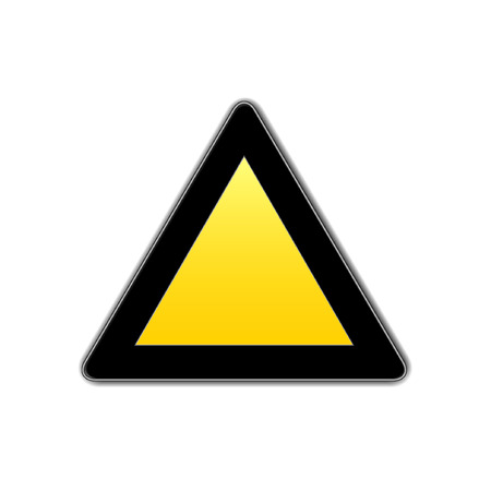 blank  traffic sign Vector