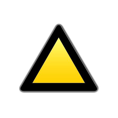 slowdown: blank  traffic sign