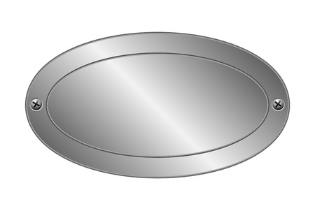 Vector illustration of metal plate Vector