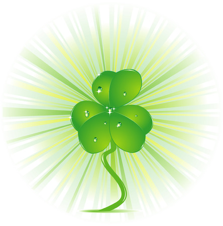 Vector illustration of a clover Stock Vector - 5610322