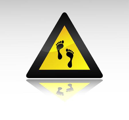 foot sign. Vector illustration Stock Vector - 5610302