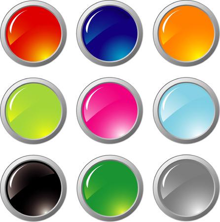 metal buttons Stock Vector - 5610303