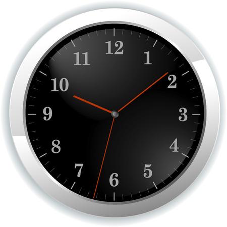 vector illustration of wall clock Stock Vector - 5610330
