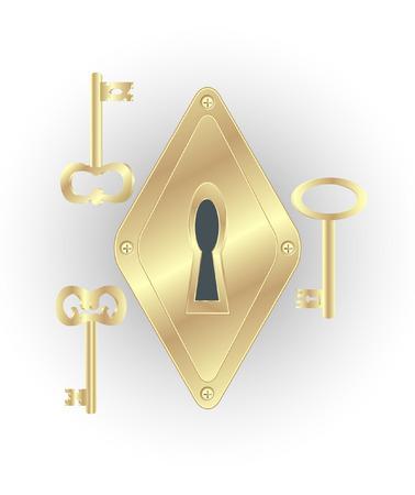 Keyhole and keys Stock Vector - 5610326