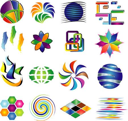 merken: Vector elementen voor uw ontwerp  Stock Illustratie