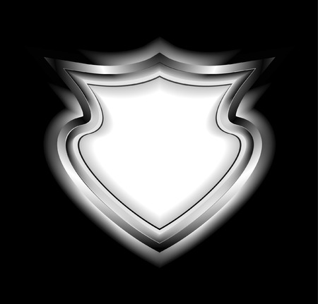Silver shield. Vector illustration Vector