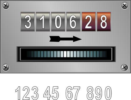 kph: Vector illustration of counter Illustration