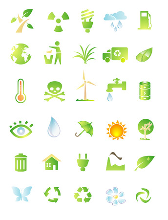environment icon set isolated on white background Vector