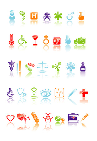 Vector illustration of medical icon set Vector