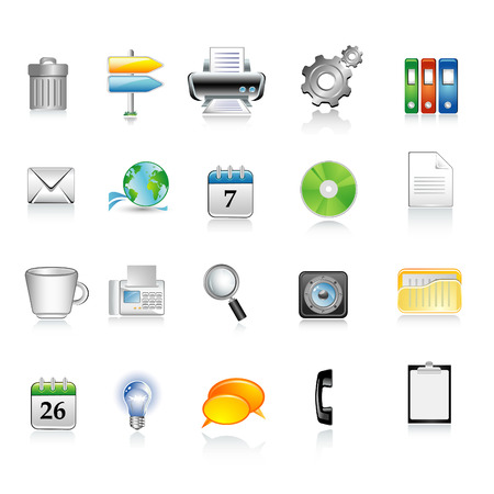 Vector office icons Stock Vector - 5743350