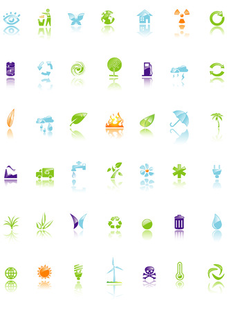 Set of environment icon Stock Vector - 5763092