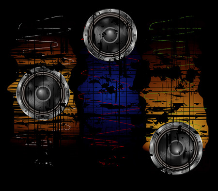 oscillation: Fondo de grunge con altavoz