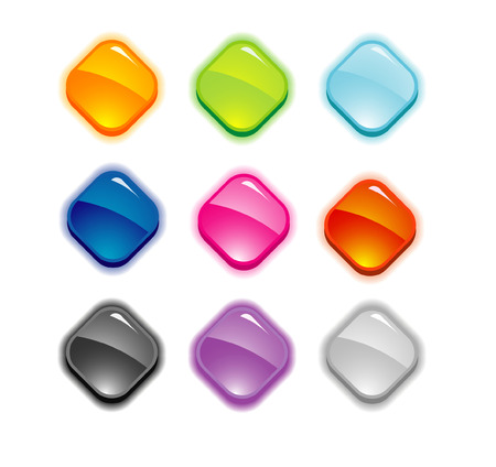 nine buttons set Stock Vector - 5903287