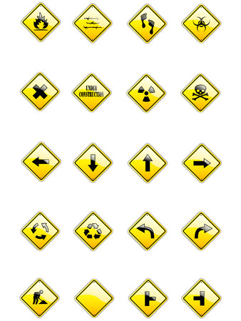 Vector set of yellow signs Stock Vector - 5903295