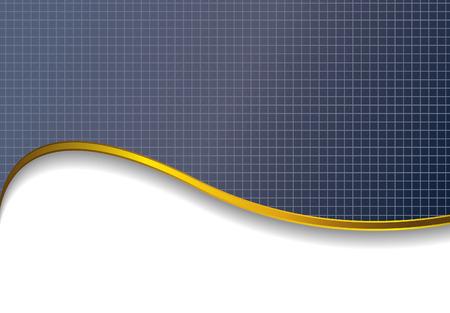 koninklijke kroon: achtergrond met Gouden golf  Stock Illustratie
