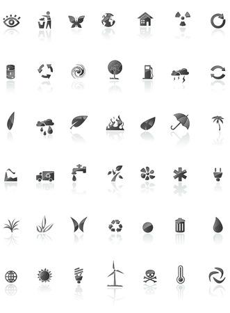 black enviroment icons Stock Vector - 5990546