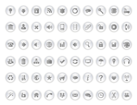 glossy icons set Stock Vector - 5990547