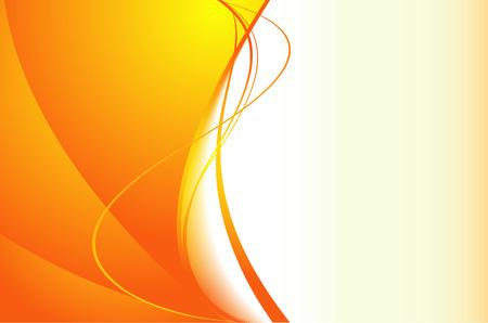 oscillation: fondo naranja con ondas