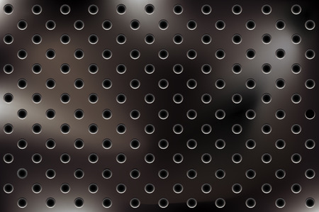 metallic background with holes Stock Vector - 5990601