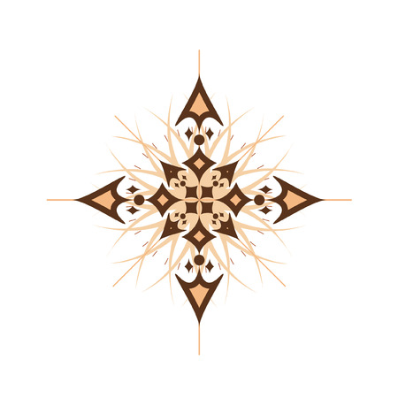 Vector illustration of abstract compass rose isolated on white  Vector