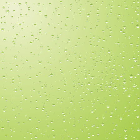liquid g: Vector illustration of green background with drops