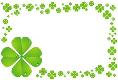 Vector illustration of clovers with drops isolated on white Stock Vector - 6098739