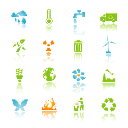 environment icon set for web and internet Stock Vector - 6262453