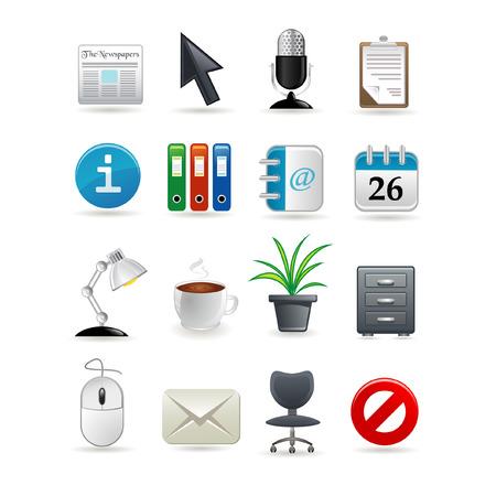 Office icon set for web. illustration Vector Illustration