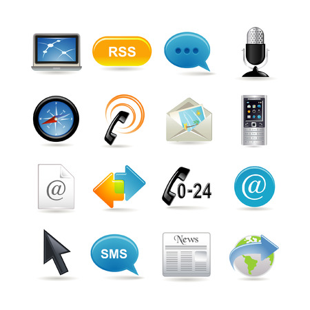 Communication icons set Stock Vector - 6567062
