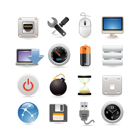 Computer icon set Stock Vector - 6567060