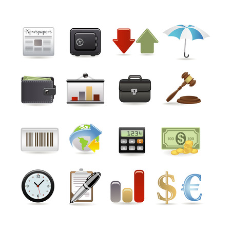 Finance icon set.  illustration Illustration