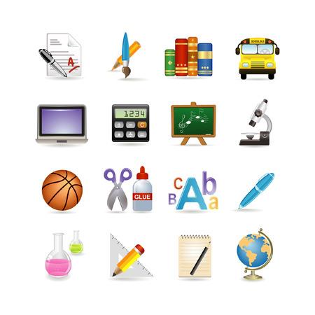 School icon set. illustration Stock Vector - 6567061