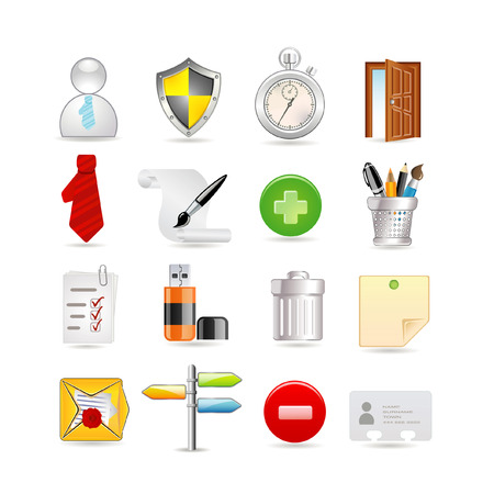 Universal and office set of icons Vector