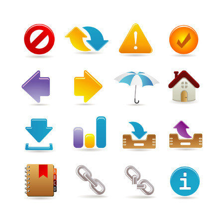 보편적 인: Universal icon set 일러스트