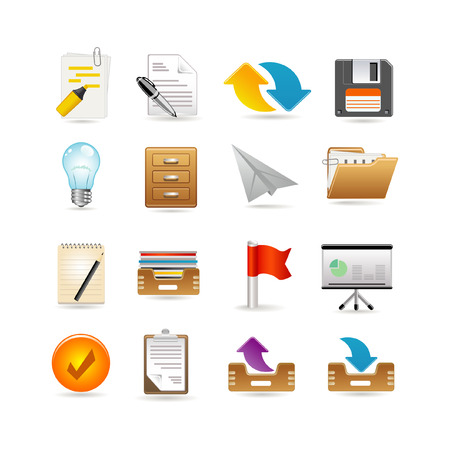 Projects and documents icons Illustration