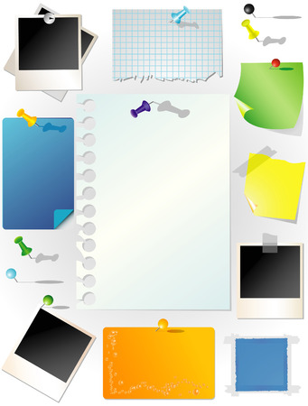 notebook paper background: Set of note papers