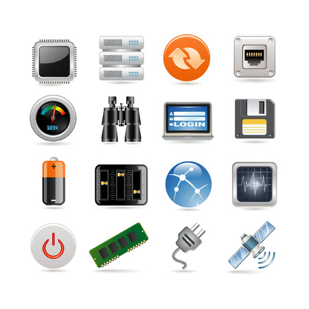 command button: Hosting Icon Set