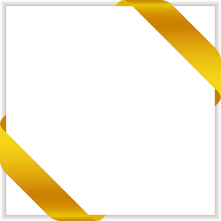 Golden corner ribbon Stock Vector - 6672303
