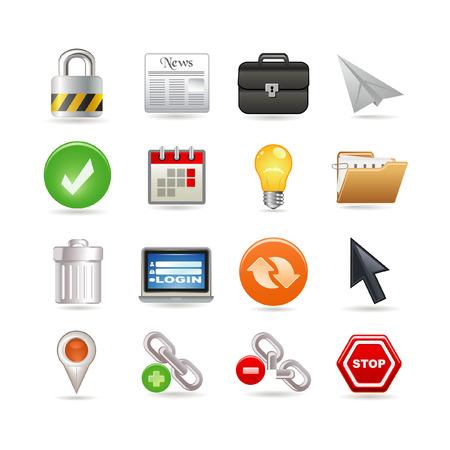 Universal web icons Stock Vector - 6730155
