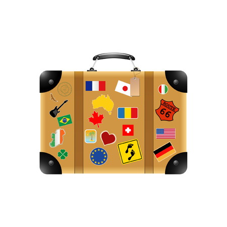 route 66: Travel suitcase