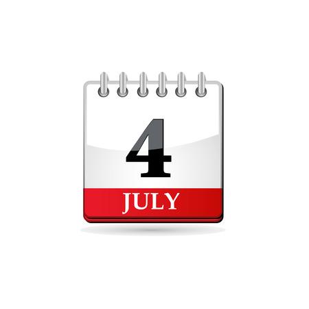 history month: Fourth of july calendar Illustration